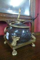A French style marble and gilt metal serpentine centrepiece