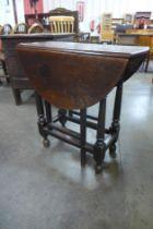 A small George III oak gateleg table