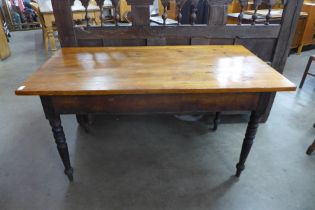 A Victorian pine kitchen table