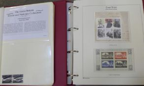 An album of Great Britain stamps and another book of stamps including errors