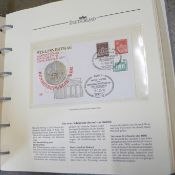 An album of German stamps