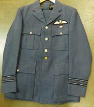 A circa 1990 RAF uniform with Gulf War ribbon bar with rosette and Squadron Leader sleeve braid