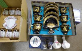 Mixed china including Royal Worcester, Royal Crown Derby, Hammersley, etc. **PLEASE NOTE THIS LOT IS