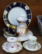A collection of Royal Crown Derby; vase, Royal Antoinette cup and saucer, Derby Posies and Vine