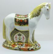 A Royal Crown Derby paperweight, Sinclairs Appleby Mare, 562 of 1500, boxed, with certificate and