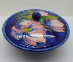 A Moorcroft powder bowl, diameter 15.5cm