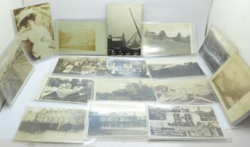 Postcards; a collection of fifty-one real photograph postcards