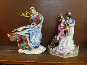 Two Franklin Mint figures, Sisters of Spring and Empress of The Snow