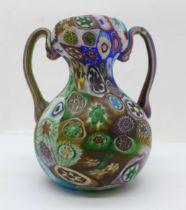 A Millefiore glass vase, 10.5cm