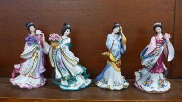 Four Lena Liu figures, for The Danbury Mint
