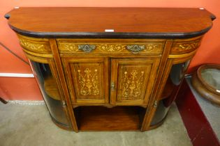 An Edward VII rosewood and marquetry inlaid credenza