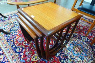 A G-Plan Astro teak nest of tables