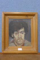 Peter John Gerrard (1929-2004), portrait of a man, oil on board, 28 x 23cms, framed