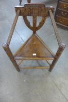 A 19th Century style carved oak Turners chair