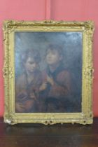 G.A. Poole (19th Century), portrait of two children, oil on canvas, inscribed verso, 75 x 62, framed