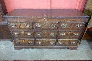 A George III oak Lancashire chest