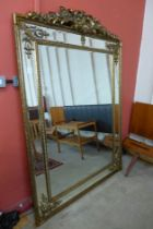 A large French style gilt framed mirror, 192cms x 135cms (M24238) #