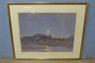 Henry Charles Brewer (1866-1950), Blakeney, signed lower left, watercolour, 45 x 59cms, framed