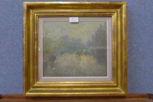 William Mason, street scene, oil on board, dated 1969, 24 x 28cms, framed