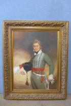 A portrait of an 18th Century military officer, oil on canvas, 100 x 74cms, framed