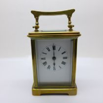 A French made four glass sided carriage clock