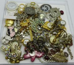 Costume jewellery and pendant watches