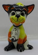 Lorna Bailey, a Cat holding a mouse, signed by Lorna Bailey on the base, 13.5cm