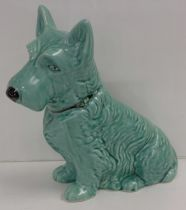 A large green Sylvac dog, 778504 1209 back stamp, 28cm