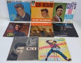 Eight Cliff Richard EP's with picture sleeves