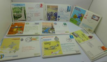 Stamps; RAF and RAF Escaping Society covers, including signed (60 no.)