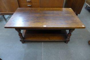 A Titchmarsh & Goodwin Ipswich oak coffee table
