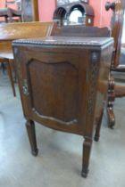An Edward VII mahogany pot cupboard