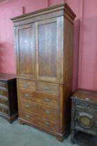 A Victorian oak housekeepers cupboard