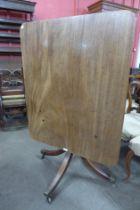 A George IV mahogany rectangular tilt-top breakfast table
