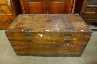 A 19th Century camphorwood ship's chest