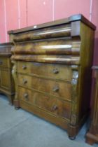 A Victorian Scottish mahogany chest of drawers