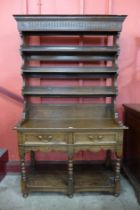 A George III style joined oak dresser