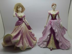 Two Coalport figures, Ladies of Fashion Fay and Helena