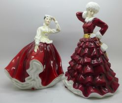Two Royal Doulton figures, Christmas Day 2009 and Gail