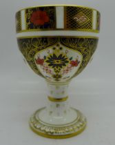 A Royal Crown Derby 1128 pattern chalice, 12cm