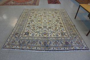 A large Persian cream ground Khorasan rug, 300 x 245cms