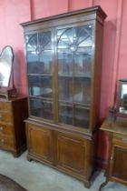 A George III style mahoagany bookcase