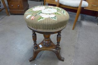 An embroidered stool