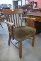 An Edward VII oak desk chair