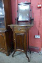 An Edward VII mahogany gentleman's shaving stand