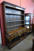 A George III style Ipswich oak dresser