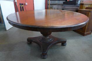 A Victorian mahogany circular breakfast table