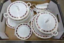 A Paragon Elegance dinner service including six dinner plates, dessert plates, side plates, one meat