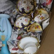 A collection of part tea sets and vases, including Royal Worcester