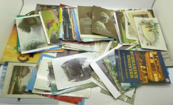 150 Edwardian and later postcards